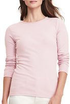 Lauren Ralph Lauren Zip-Shoulder Cotton Tee