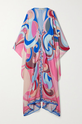 Emilio Pucci Printed Woven Kaftan - Pink
