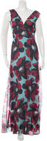 Carolina Herrera Silk Floral Evening Dress