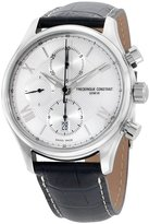 Frederique Constant Men's 42mm Black Leather Band Steel Case Automatic -Tone Dial Watch FC-392MS5B6
