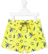 Sunuva - Buffalo print swim shorts - kids - Polyester - 4 yrs