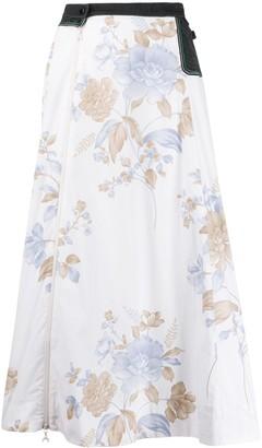 Marine Serre floral print a-line skirt