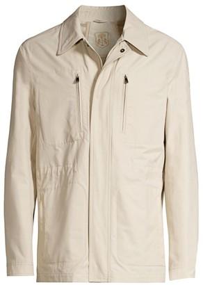 Corneliani Zip Pocket Tech Cotton Jacket