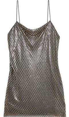 Alice + Olivia Harmony Chainmail Mini Slip Dress