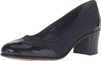 Gravati Women's Chunky Wingtip w/Patent Toe & Heel