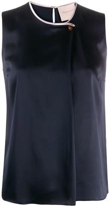 Roksanda Sleeveless Buttoned Silk Blouse