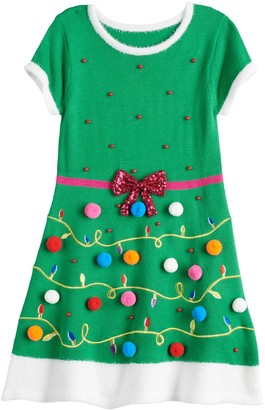 It's Our Time Girls 7-16 & Plus Size Christmas Sweater Dress