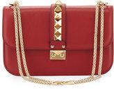 Valentino Garavani Lock Rockstud-Trim Flap Bag, Red