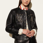 Coach Studded Leather Jacket