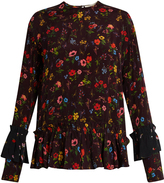 Preen Line Milly floral-print crepe top