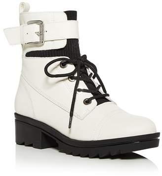 Marc Fisher Women's Bristyn Block-Heel Combat Boots