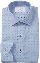 Lorenzo Uomo X Print Trim Fit Dress Shirt