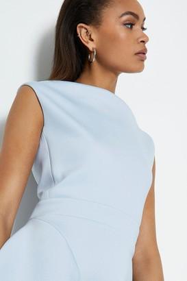 Coast Scuba Ruffle Skirt Midi Dress