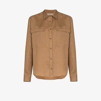 Three Graces Willow chest pocket linen shirt