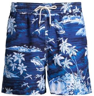Polo Ralph Lauren Tropical-Print Traveler Swim Trunks