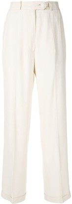 Moschino Pre-Owned High Rise Cropped Trousers