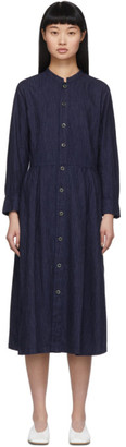 Blue Blue Japan Indigo Flannel Dress