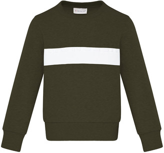 Moncler Boy's Contrast Taped Crewneck Sweater, Size 4-6