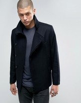 AllSaints Double Breasted Peacoat Jacket