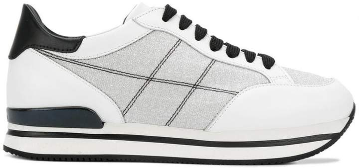 Hogan embroidered sneakers