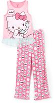 Komar Kids Hello Kitty Pink & White Pajama Set - Girls