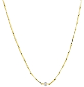 Chimento 18K Yellow and White Gold Bamboo Shine Necklace with Diamonds, 17