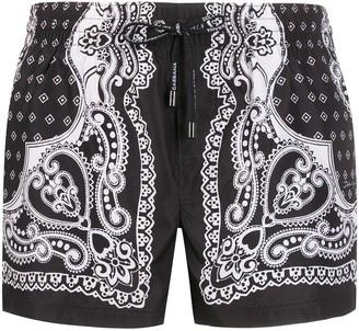 Dolce & Gabbana Bandana print swimming shorts