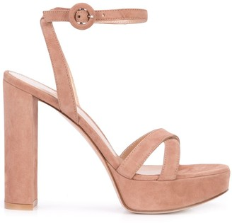 Gianvito Rossi Cross Strap Platform Sandals