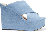 Thumbnail for your product : Sergio Rossi Alma Denim Wedge Sandals