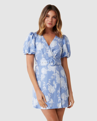 Forever New Maggie Petite Linen Wrap Dress