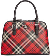 Giani Bernini Plaid Dome Satchel, Only at Macy's
