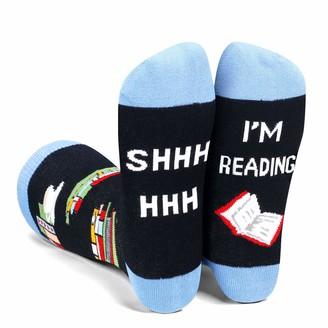 Zmart Women Reading Books Game Golf Soccer Football Funny Novelty Socks Gifts for Girls - - Medium