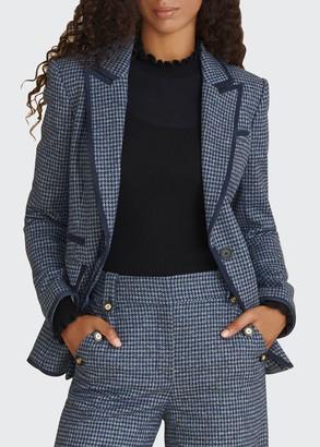 Veronica Beard Halia Dickey Houndstooth Jacket
