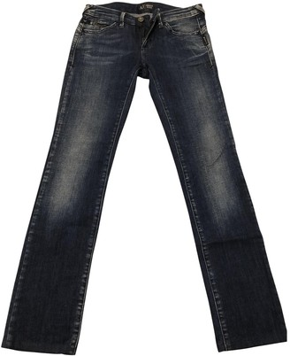 Armani Jeans Blue Cotton - elasthane Jeans for Women