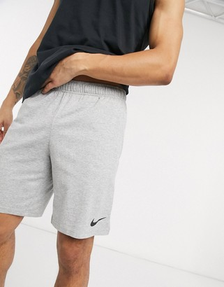 Nike Training Dri-Fit cotton shorts in grey