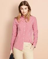 Brooks Brothers Gingham Stretch Cotton Poplin Shirt