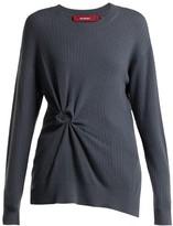 Sies Marjan Brynn Rosette Cashmere Sweater - Womens - Grey