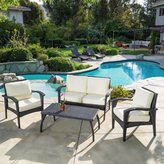 Three Posts Bickford 4 Piece Deep Seating Group with Cushion