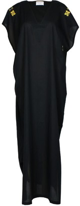 Norah Orient Black Kaftan Dress With Handmade Embroidery