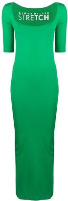 Simon Miller Short-Sleeved Fitted Maxi Dress