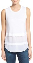 MICHAEL Michael Kors Women's Mixed Media Sleeveless Top