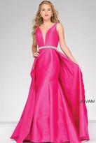 Jovani Long Embellished V Neck Prom Dress 42401
