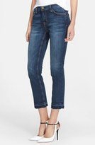Current/Elliott Women's 'The Cropped Straight' Let Out Hem Jeans