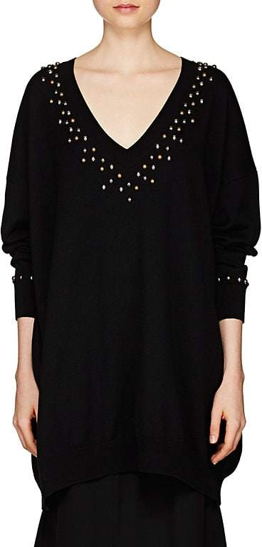 Givenchy Women's Studded Wool-Cashmere Oversized Sweater