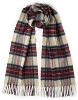 Johnstons of Elgin Cashmere Dress Stewart Plaid Scarf
