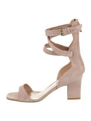 Valentino Suede Sandals Pink