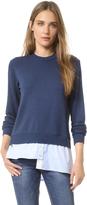 Clu Sweatshirt with Asymmetrical Shirttail
