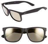Ray-Ban Men's 54Mm Sunglasses - Black/ Brown Mirror Gold