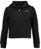 Marc by Marc Jacobs Embellished Cotton-Jersey Hooded Sweatshirt