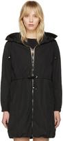 Moncler Black Tuile Hooded Coat
